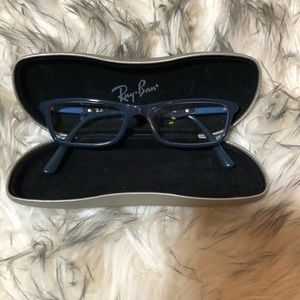 Ray Ban Titanium Glasses Frames Navy Blue